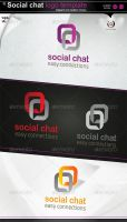 Social Chat logo by gomez-design