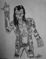metal punk skull by GraveLord138