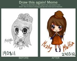 Draw This Again Meme: MistyMuffin AT by Kawaiishi