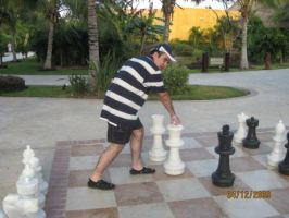 Me playing chess by LenMomono