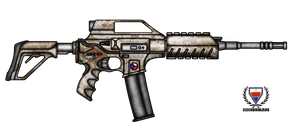 Fictional Firearm: HC-N3A2 Assault Rifle by CzechBiohazard