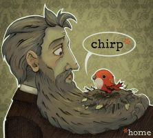The Bird and The Beard by uglyographer