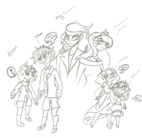 Humanized Lunbra kids Sketch by ModernLisart