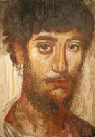 Fayum mummy portrait by Lijah