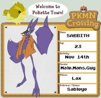 Pokemon Crossing Sabbith V2 by Zito-is-Neato