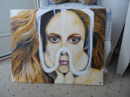 Lady Gaga Acrylic painting FOR SALE by ToriToriTree