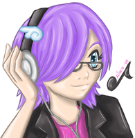 Riven Le Fay with Headphones by ladyriven