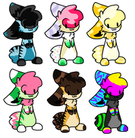 Easter Adoptables by Xx-AnickJukebox-xX