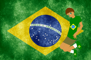 HM CSF Brazil flag background by ABtheButterfly