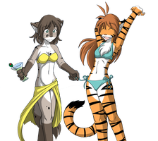 Flora and Kat On Spring Break (No Background) by xboxgamer969