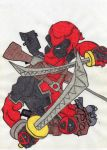 Deadpool Caricatura by BardockArt
