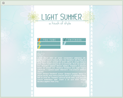 Light Summer | simple custom graphic by BluAjisai