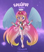 ADOPTABLE: Lollipop Angel - The Princess (OPEN) by Punchiecake