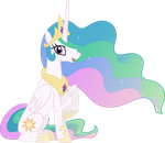 Princess Celestia Sitting Down by 90Sigma