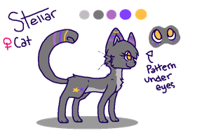 Stellar the cat : Reference Sheet by sophisticatedghost