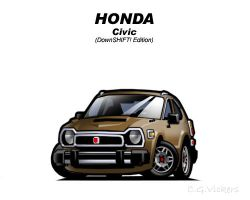 Chibi Honda Civic DS Edition by CGVickers