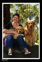 Kate and her dogs by xxenssial
