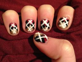 Argyle Manicure by this-is-a-paradox