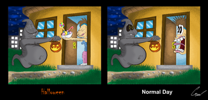 Goss in its on Halloween! by SarToons
