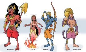 Ramayana Concepts by manmonkee
