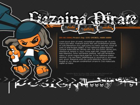 Pirate Dezainaa, layout vol. 1 by trabbit