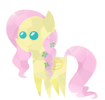 Simplified Crystal Fluttershy by Oathkeeper21