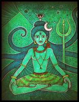 green shiva by santosam81