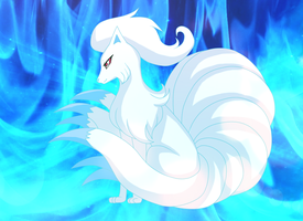 Ninetails Flare request by PlatinaSena