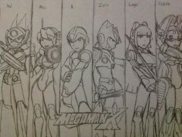 Megaman X8 Cast by BetaX64