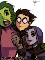 Twitter Titans Doodle. by Ceshira
