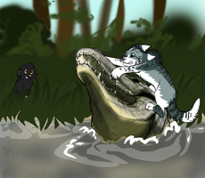 Crocodile Hunters by Aspenfrost