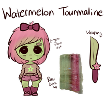 Watermelon Tourmaline: Gem Adopt [CLOSED] by SnappleDopts