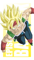 Bardock Super Saiyan VECTOR PREVIEW by TattyDesigns