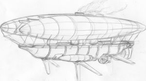 HMS Warrior (steampunk airship) WIP by chaos-sandwhich