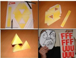 Newfags Cant Paper-Triforce by ryo007