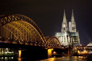 Koln German at Night by thethreshold