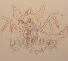 Spyro Sketch WIP by jjman65