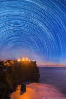 Uluwatu star trails by OutdoorNudePhoto