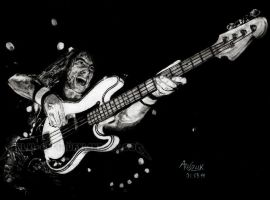 IRON MAIDEN - Steve Harris by Red-Szajn
