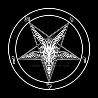 Baphomet Sigil of Satan and Satanism by RabidCrow
