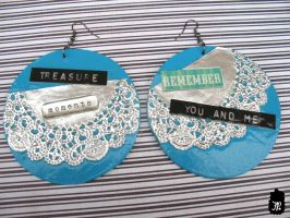 Treasure Moments Collage Earrings by TheFuzzyPineapple