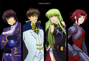 AX08: Code Geass Bookmarks by laurbits