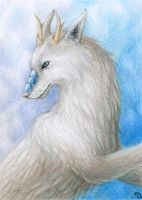 ACEO for Diamondwhitewolf by Dragarta