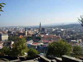 view over Cluj Napoca by syncopated-ART