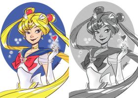Sailormoon doubleset by VPdessin