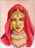 Indian woman by Emi-Hotaru