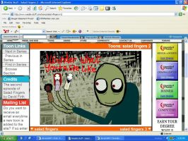 Salad fingers screenshot by Kibasrakuen57