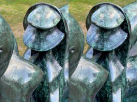 An Unusual View Of Henry Moore's Mother And Child by aegiandyad