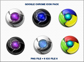 Google Chrome icon pack by ilnanny
