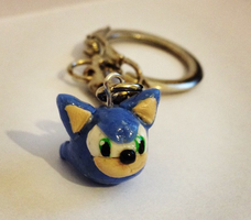 Sonic Head Keyring by Petit-Chamallow